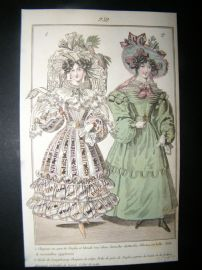Townsend's Quarterly C1828 Hand Col Fashion Print 252